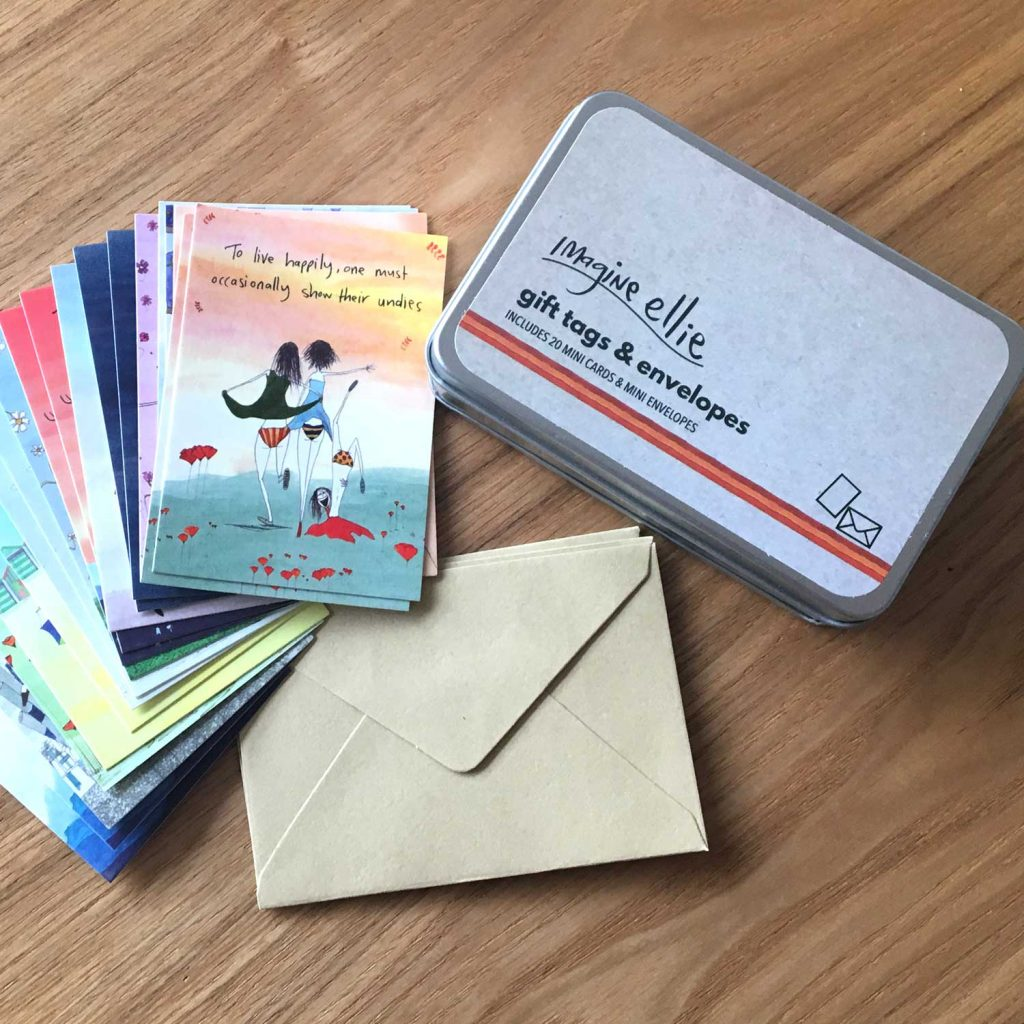 Greeting card archives imagine ellie tin of mini cards envelopes kristyandbryce Gallery
